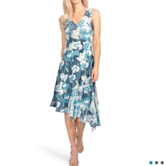 ef72c1039e07 Komarov Dresses | Floral Asymmetric Chiffon Dress | Poshmark